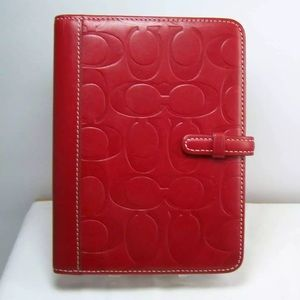 Authentic coach red leather photo brag book